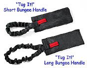 """Tug It!"" with bungee handle"